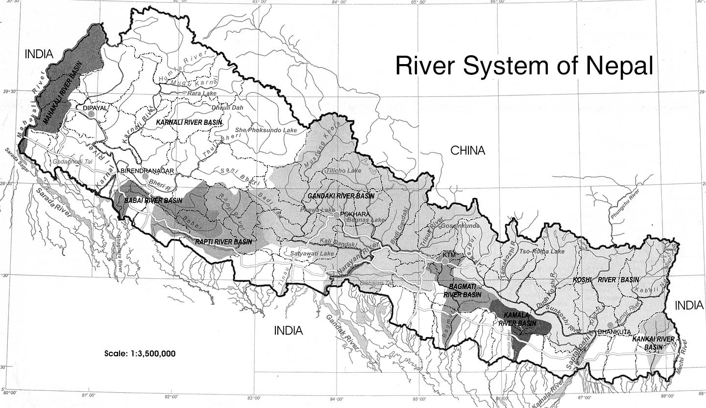 Rivers Of Nepal Border Nepal Buddhi - Major river systems of the world