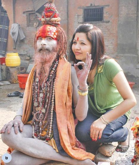 3-Girl behind Sadhu