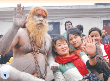 4-Sadhu and 4 girls