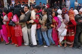People on line