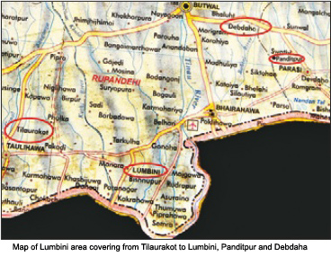 Map of Lumbini Area