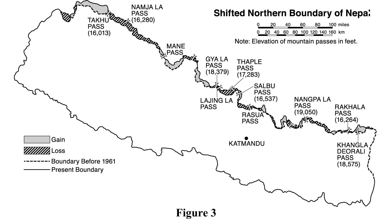 Shifting Borders Of Nepal Border Nepal Buddhi
