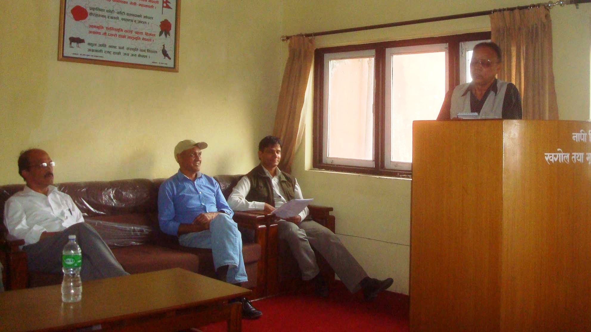As An Invitee Saroj Chalise General Secretary Of Nepal Surveyors Association Expressed The View That Previously It Was Not Clearly