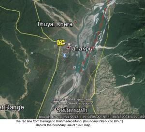 TANAKPUR GOOGLE Redline Map