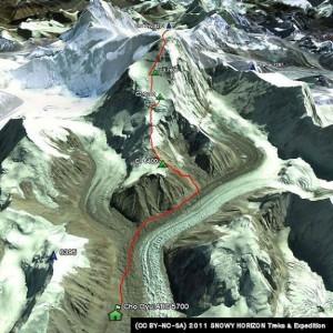 Cho Oyu Climbing from Tibet
