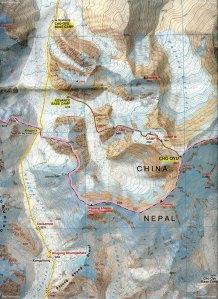 Cho Oyu Map