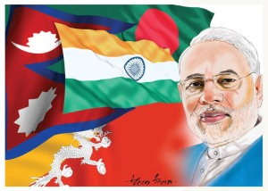 Diagram India-Bangladesh-Nepal